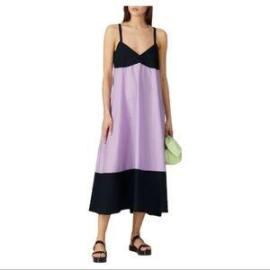 VEDA Rio Cotton Midi Dress Purple Black S